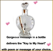 Key to My Heart Message in a Bottle